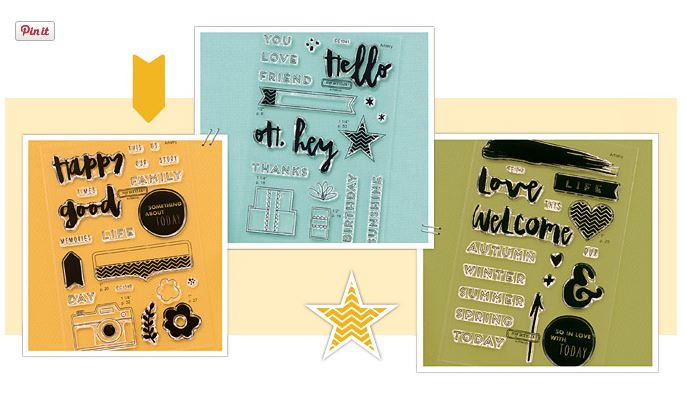 3 special stamp sets available this month only.
