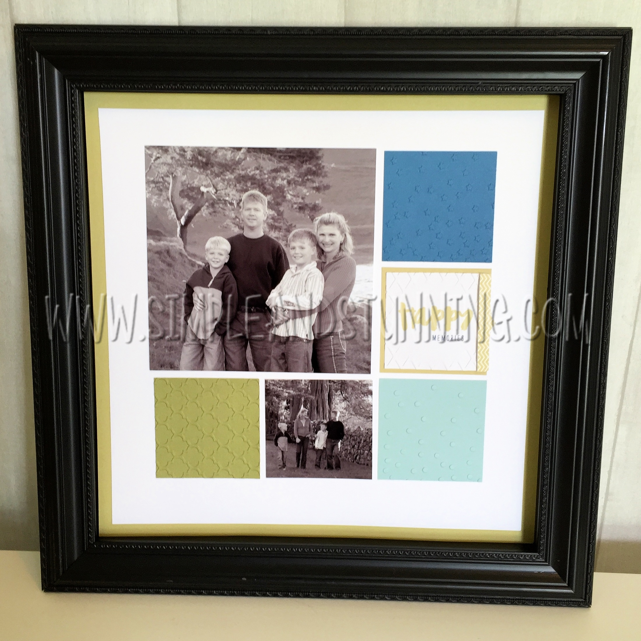 Share and celebrate your family photos in a beautiful Shadow Box Frame