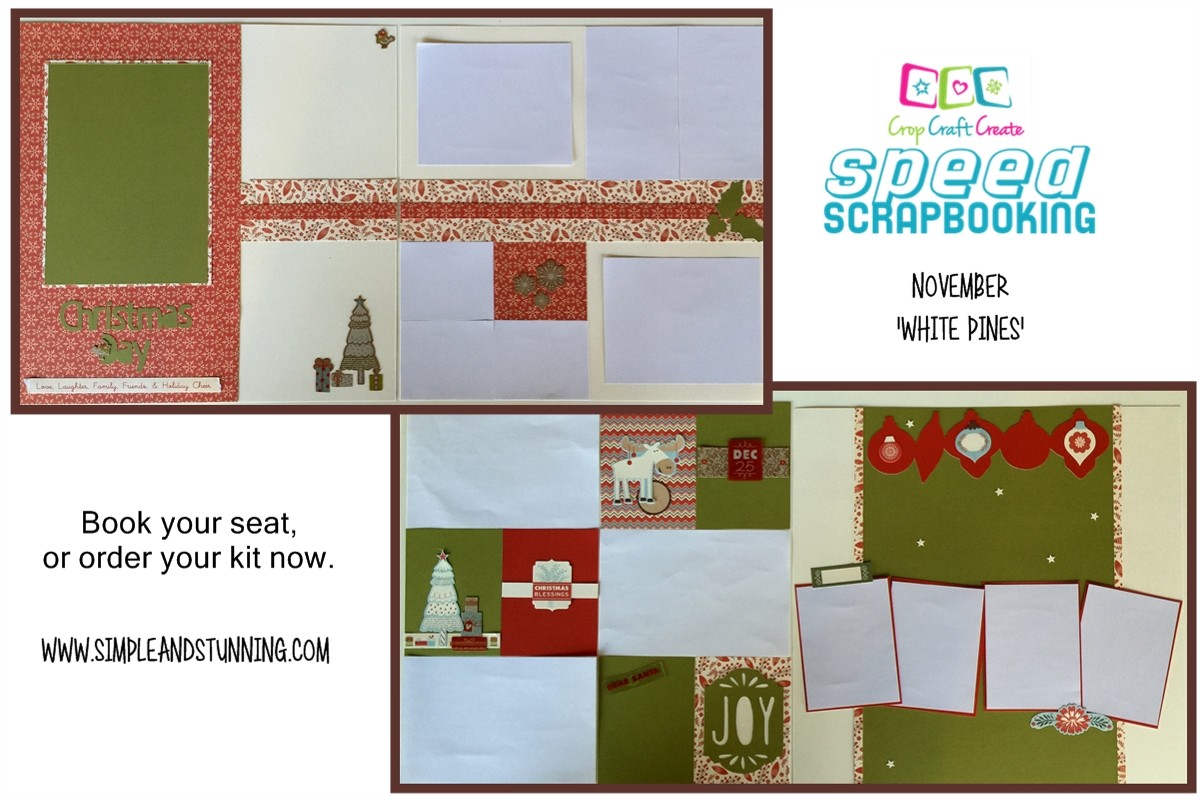 White Pines speed scrapbooking kit from Crop Craft Create