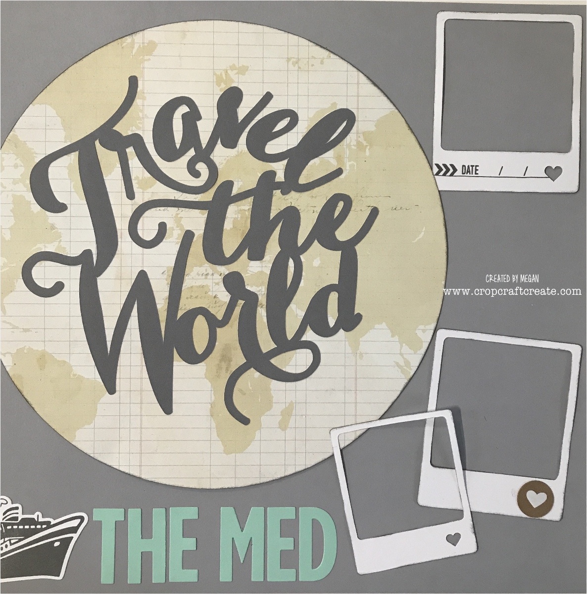 travel the world one page layout