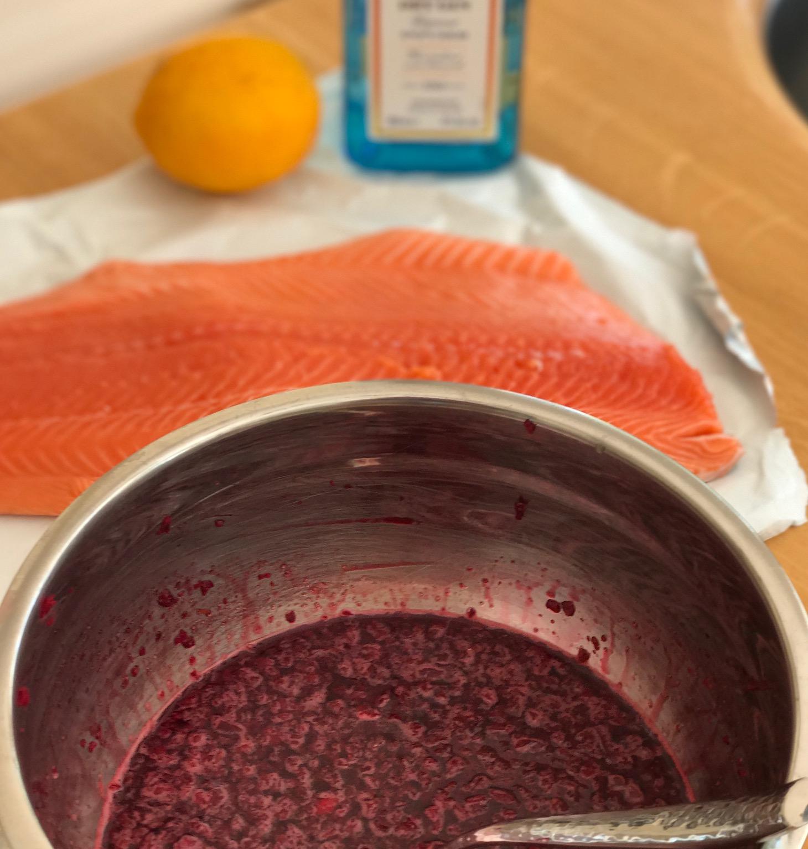 Preparing the marinade ingredients