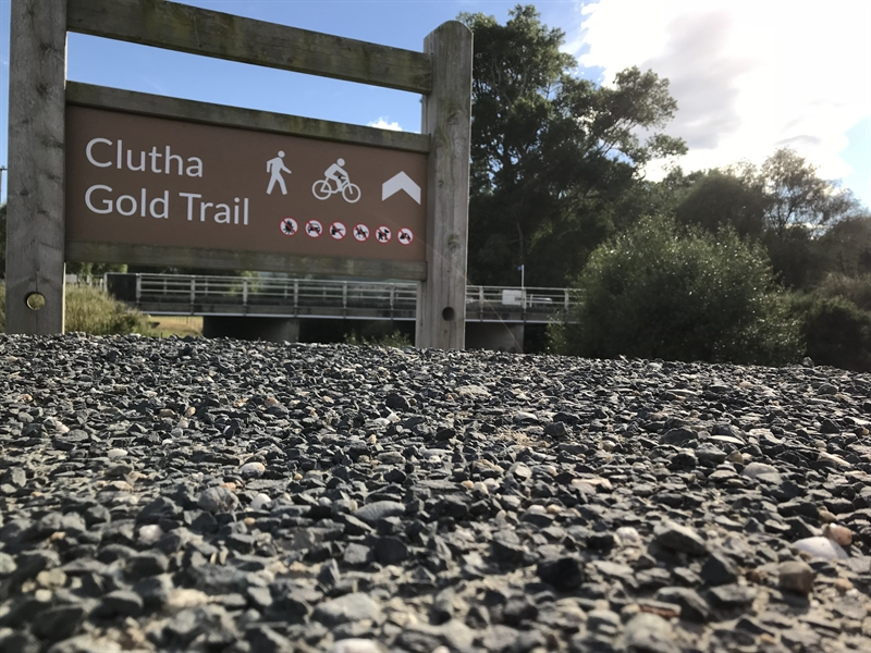 The Clutha Gold Trail starts/finishes here