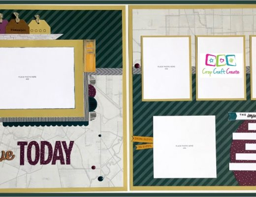 Documented 2 page scrapbook layout