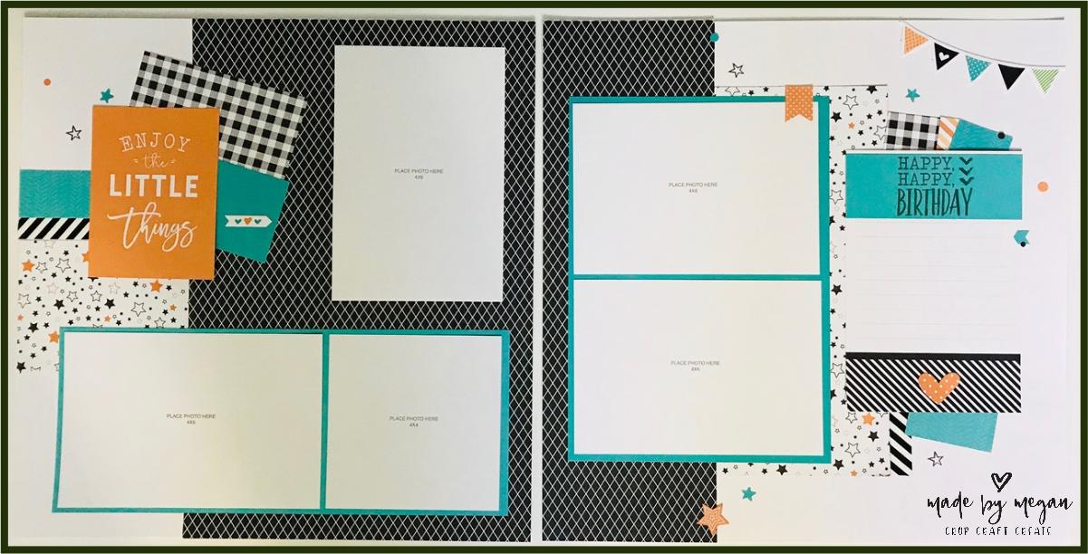 Hello Pumpkin birthday scrapbooking layout