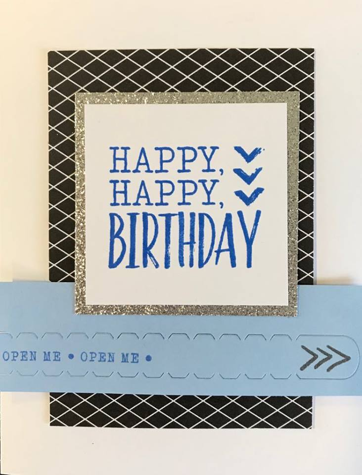 Happy Birthday card with pull tag