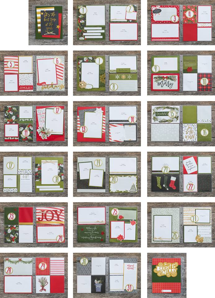 The beautiful pages you'll create with this workshop kit.