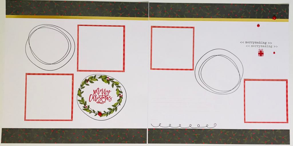 Christmas layout using 'Tis the Season