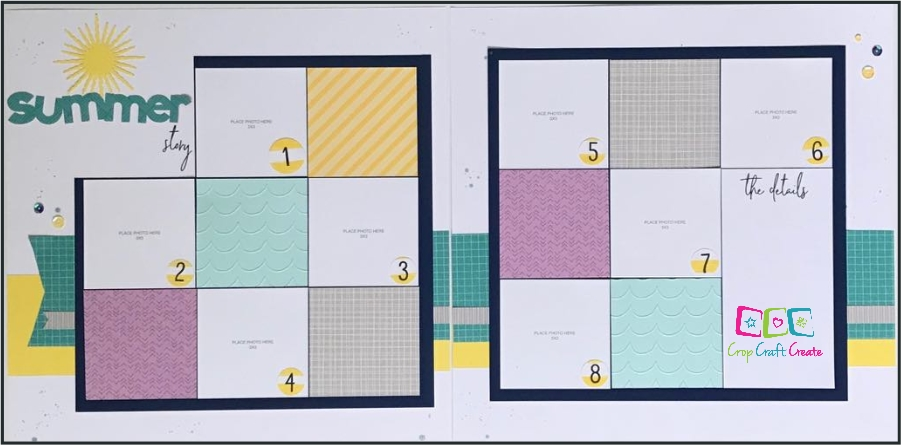 Summer story scrapbooking layout