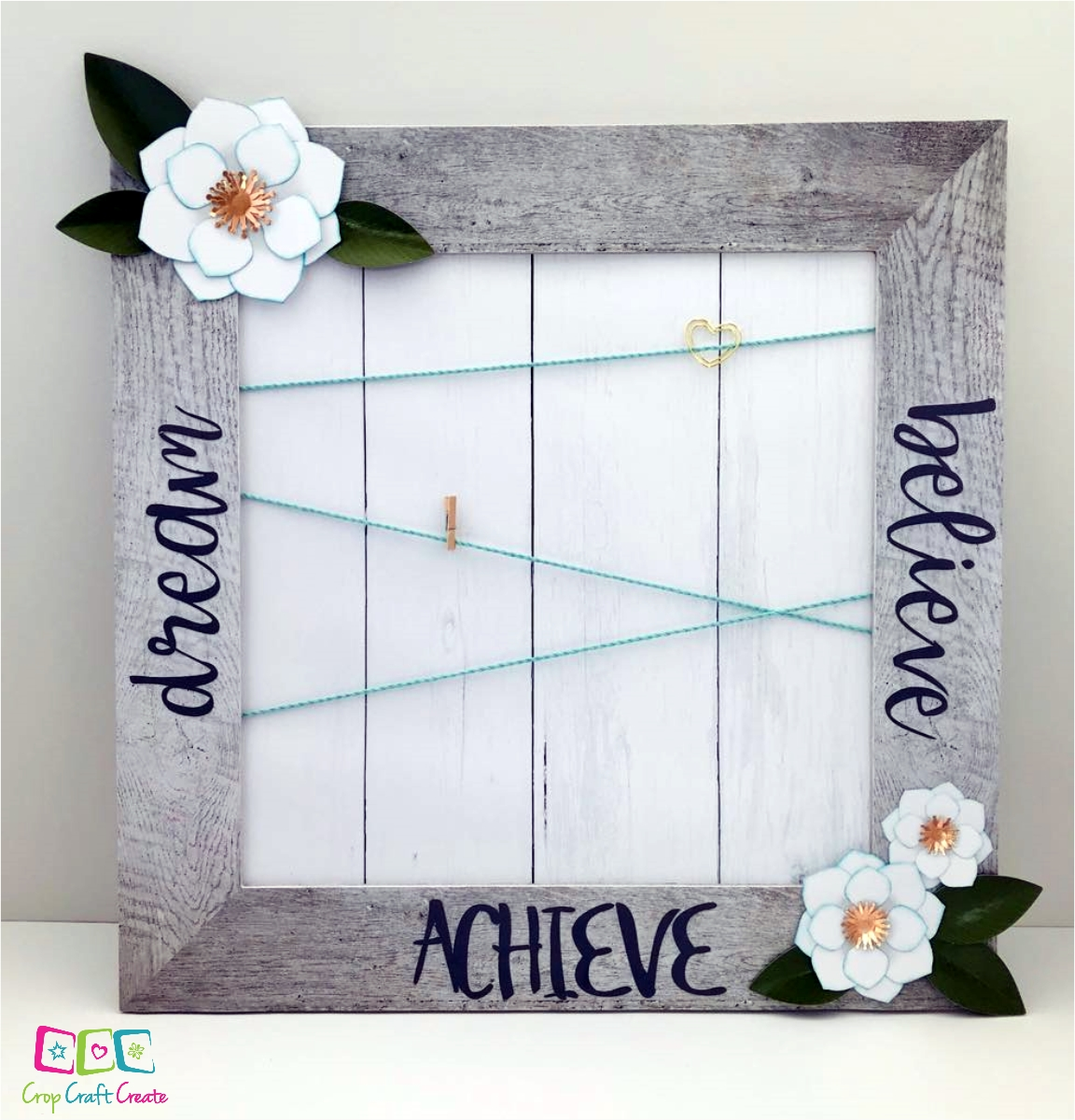 Vision Board created using CTMH's Magnolia Frame Kit