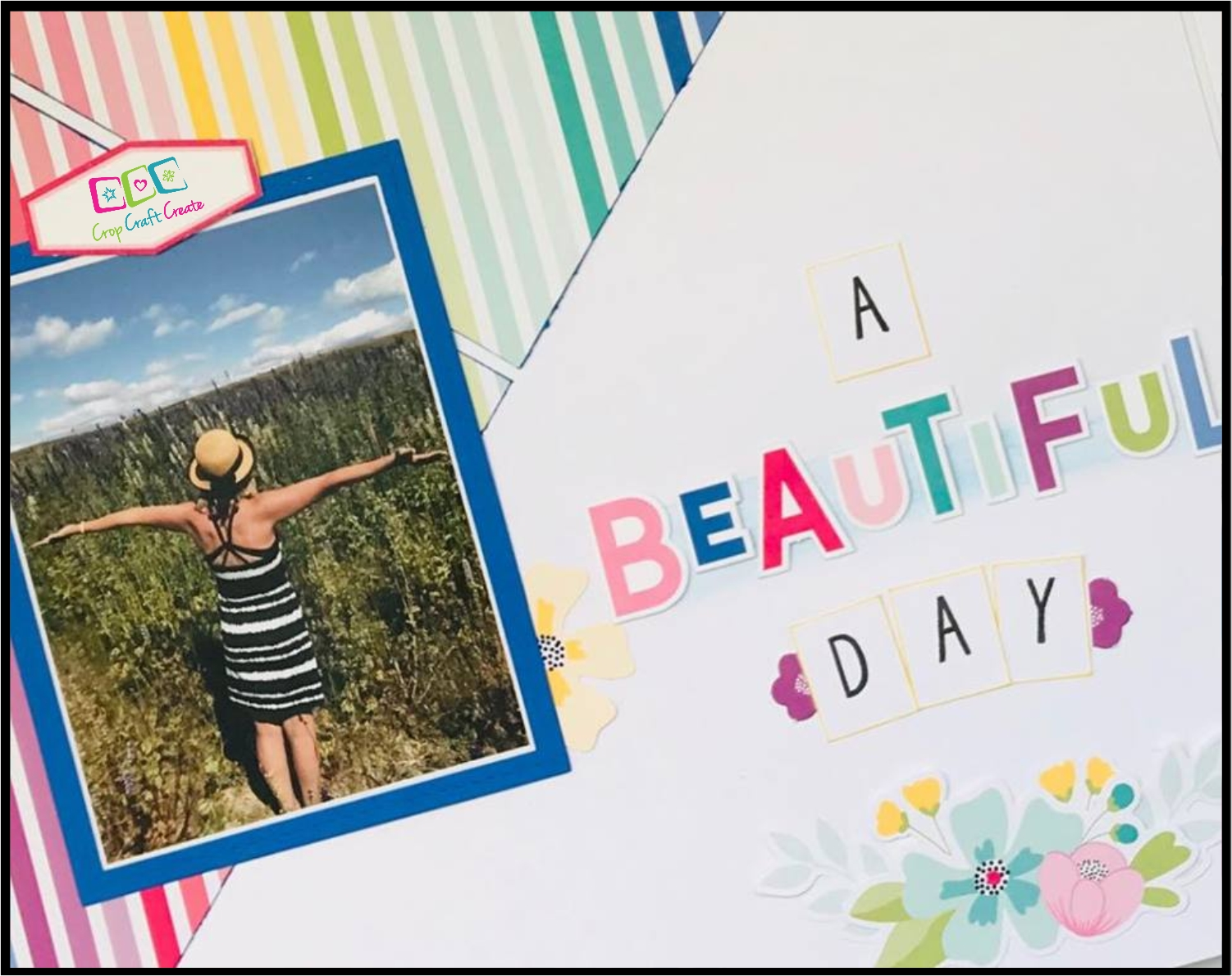 Scrapbooking layout close up