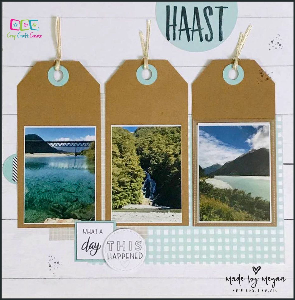 'This Happened' SOTM Scrapbooking Layout