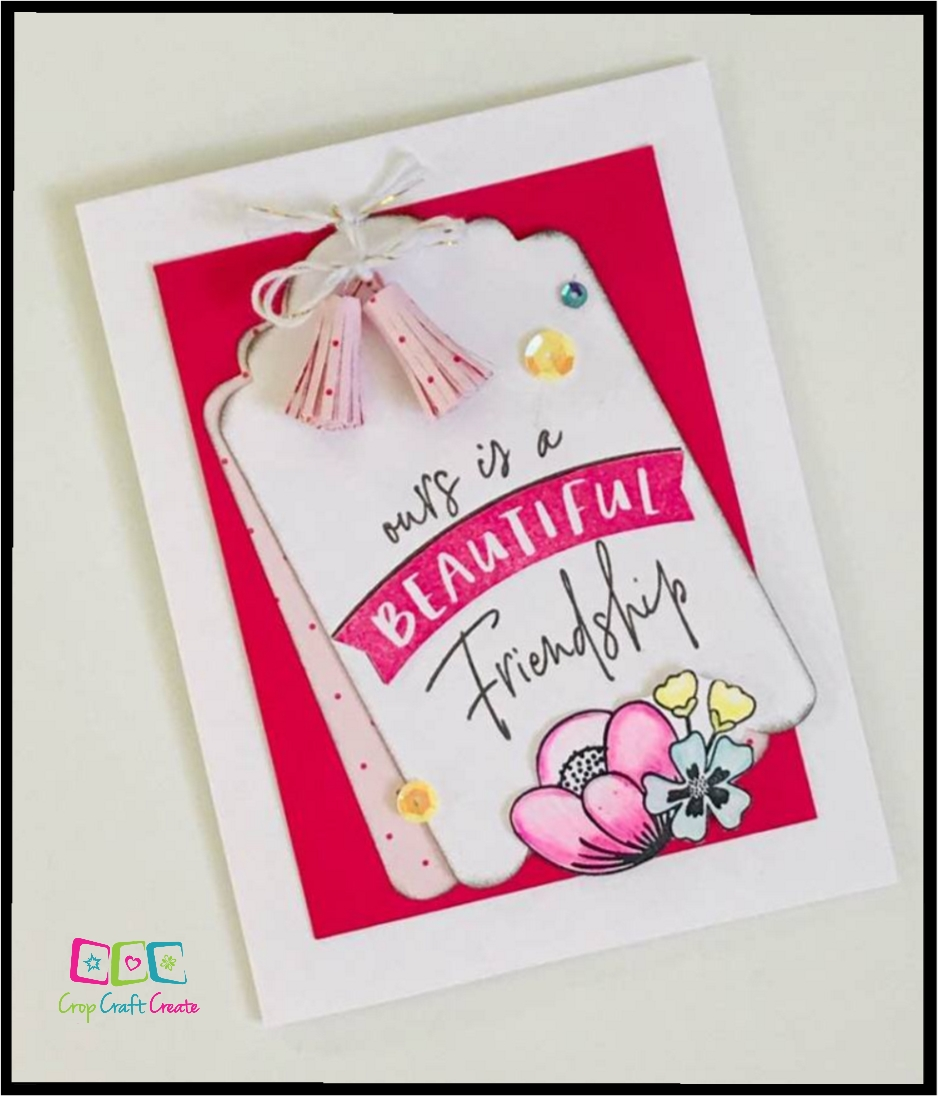 I Heart Us card with tassels