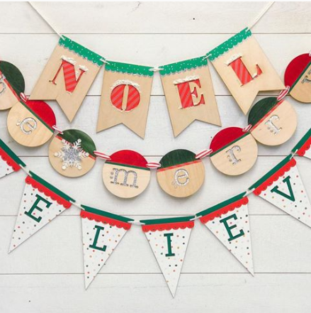 12 Days of Christmas crafting - Day 4 Christmas banners