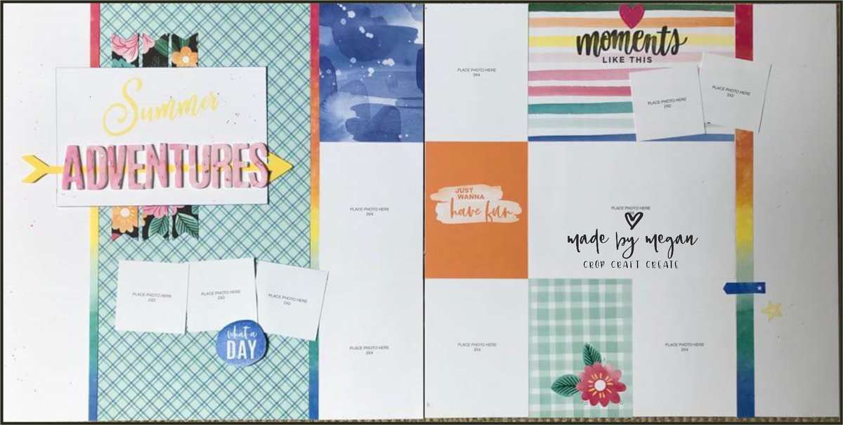 Celebrate Today - Summer Adventures layout