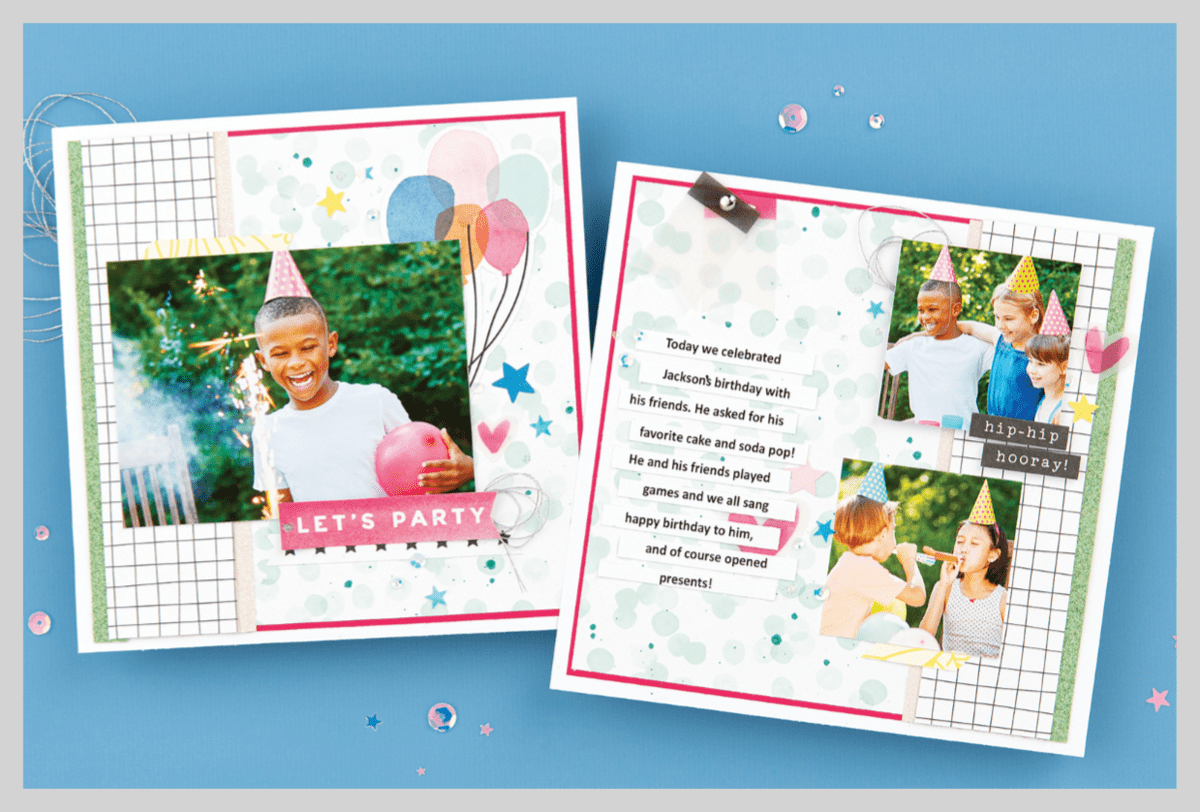 Mix In scrapbooking layout